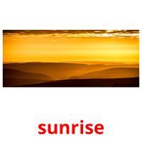 sunrise picture flashcards