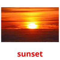 sunset picture flashcards