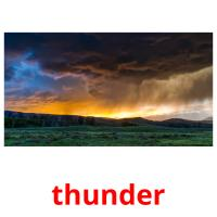 thunder picture flashcards