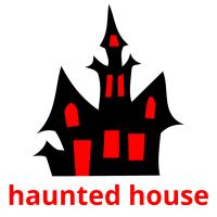 haunted house picture flashcards