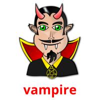 vampire picture flashcards