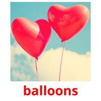 balloons picture flashcards