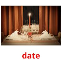date picture flashcards