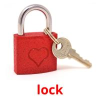 lock picture flashcards
