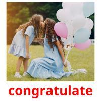 congratulate picture flashcards