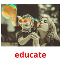 educate picture flashcards