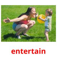 entertain picture flashcards