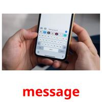 message picture flashcards