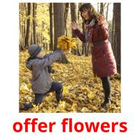 offer flowers picture flashcards