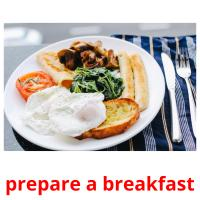prepare a breakfast picture flashcards