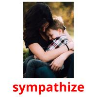 sympathize picture flashcards