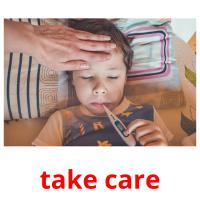 take care picture flashcards
