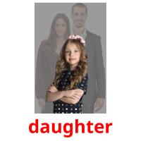 daughter picture flashcards