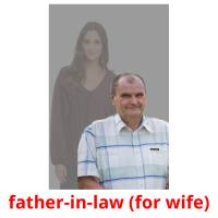 father-in-law (for wife) picture flashcards