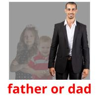 father or dad picture flashcards