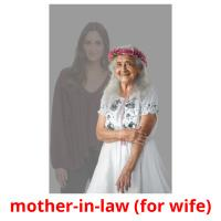 mother-in-law (for wife) picture flashcards
