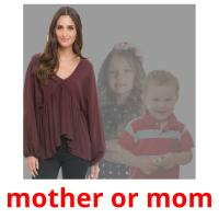 mother or mom picture flashcards