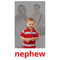 nephew picture flashcards