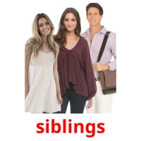 siblings picture flashcards