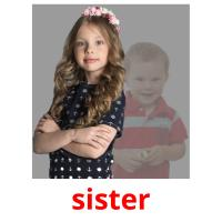 sister picture flashcards