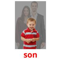 son picture flashcards