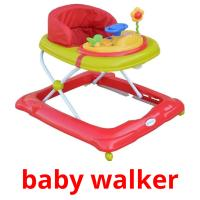 baby walker picture flashcards