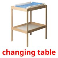 changing table picture flashcards