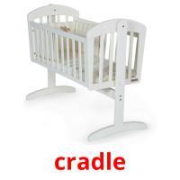 cradle picture flashcards