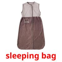 sleeping bag picture flashcards