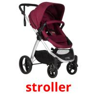 stroller picture flashcards