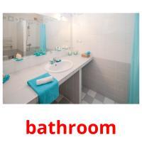 bathroom picture flashcards