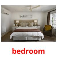 bedroom picture flashcards