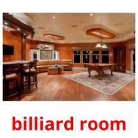 billiard room picture flashcards