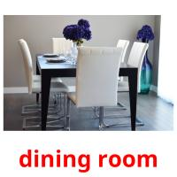 dining room picture flashcards