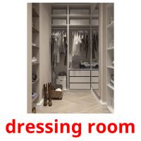dressing room picture flashcards