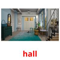 hall picture flashcards