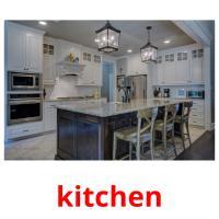 kitchen picture flashcards