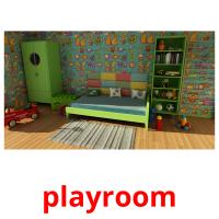 playroom picture flashcards