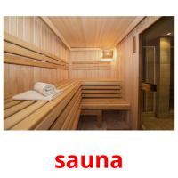sauna picture flashcards