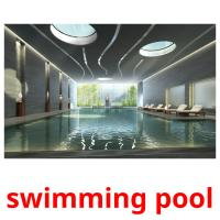 swimming pool picture flashcards