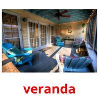 veranda picture flashcards
