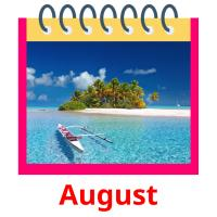 August picture flashcards