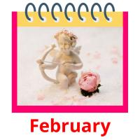 February picture flashcards