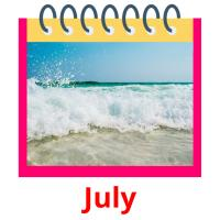 July picture flashcards