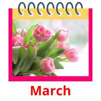 March picture flashcards
