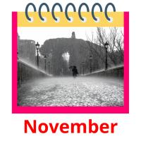 November picture flashcards