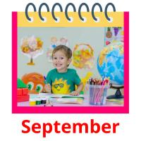 September picture flashcards