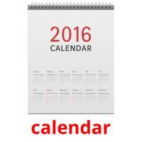 calendar picture flashcards