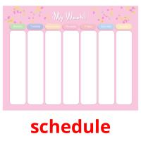 schedule picture flashcards