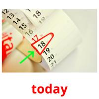 today picture flashcards